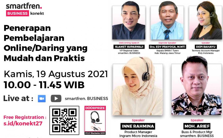 Penerapan Pembelajaran Online/Daring yang Mudah dan Praktis Bersama Bapak Drs. Edy Prayoga, M.MTi dan Smartfren