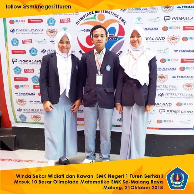Catat Prestasi dalam Olimpiade Matermatika SMK se-Malang Raya