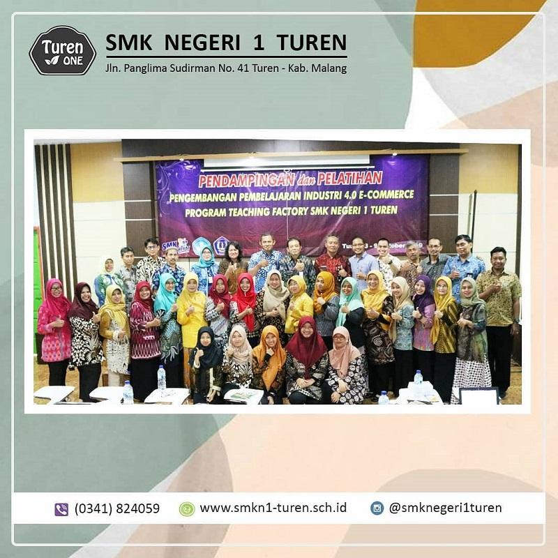 Pendampingan dan Pelatihan Pengembangan Pembelajaran Industri 4.0 E-commerce Program Teaching Factory SMKN 1 Turen Tahun Pelajaran 2019-2020