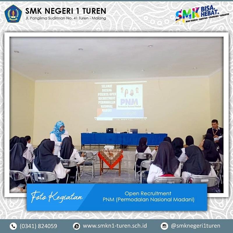 Open Recruitment Permodalan Nasional Madani (PNM) di SMKN 1 Turen