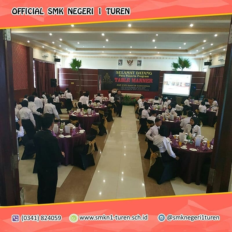 Table Manner Diselenggarakan Guna Memantapkan Peserta Didik Perhotelan Menghadapi Dunia Kerja
